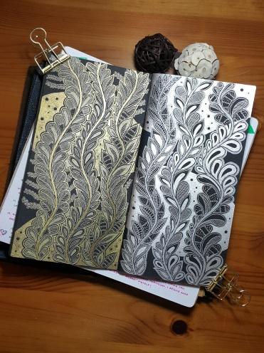Doodles in Traveler's Notebook insert